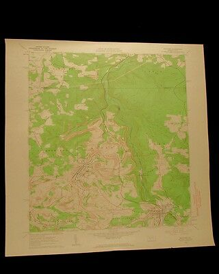 Hastings Pennsylvania vintage 1963 original USGS Topographical chart
