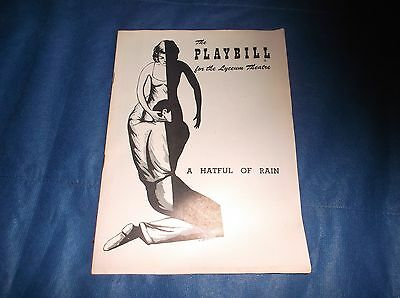 """1956 Playbill The Lyceum Theatre In New York """"A Hateful Rain"""" W/Shelly Winters"""
