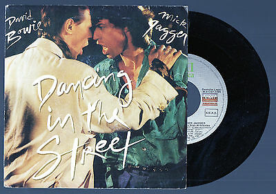DAVID BOWIE & MICK JAGGER Dancing in the Street 1985 Spain Single rolling stones