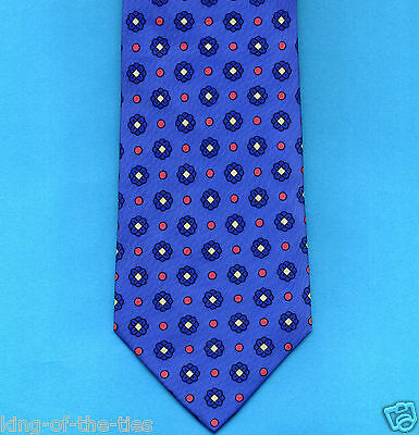 FREE P&P* 100% Silk - Blue with Red & White Blue Spots Men's Tie     #3529