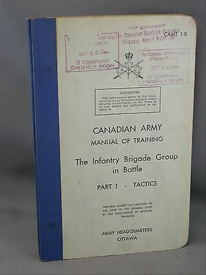 Princess Marys Canadian Scottish Training Manual Infantry Brigade Battle Tactics