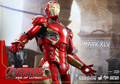 "Marvel Iron Man Avengers 2 Age of Ultron MK XLV 45 1/6 scale 12"" figure Hot Toys"
