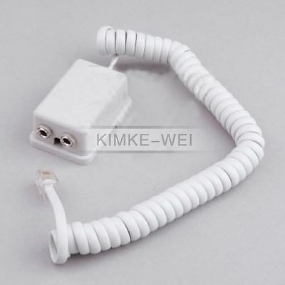 3.5mm Jack / RJ11 Western telephone adapter for phone headset New