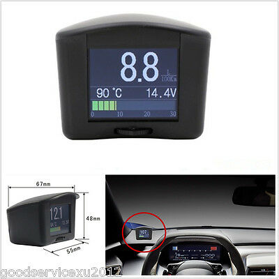 Mini Smart Car OBD Digital Trip Computer Fault Code Scan Gauge With LCD Display
