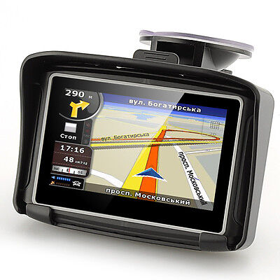 "4.3"" LCD IPX7 Waterproof Motorcycle GPS navigator with FM bluetooth 8G Flash"