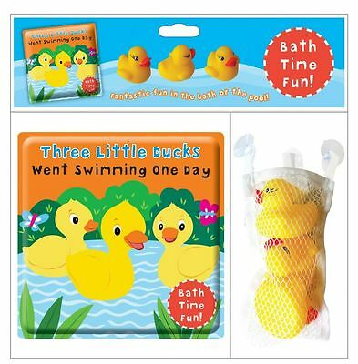 Children's Bath Time Fun The Ducks Triplets With 3 Squirty Toys