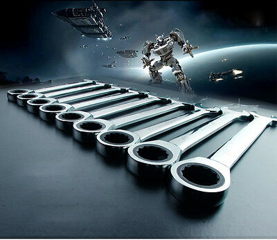 Hot! 22 Size Ratcheting Combination Hand Tool Wrench Set Open-ring Spanners Home
