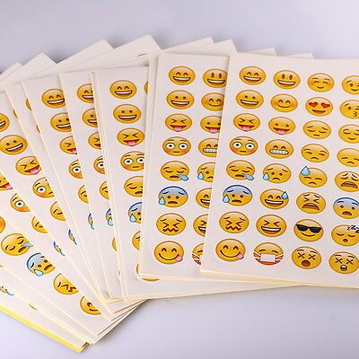 20 sheets/Pack Emoji Sticker Smily Face Stickers For Notebook Message Instagram