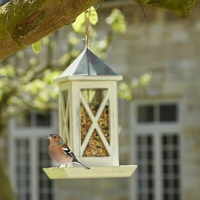 Gardman A09616 Wooden Garden Lantern Peanut Wild Bird Feeder Antique Cream