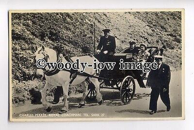 tp0808 - Sark - The Royal Coachman with the Queen & Prince Phillip - postcard