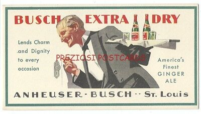 ANHEUSER-BUSCH EXTRA DRY GINGER ALE BLOTTER Fancy Room Service Delivery ca1920's