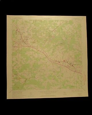 Conyers Georgia vintage 1969 original USGS Topographical chart