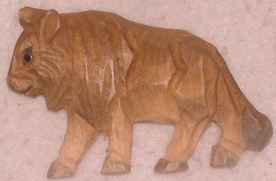 """New Refrigerator Magnet Wood Bison Buffalo Wooden Handcrafted 3"""" Wide 1.75"""" High"""