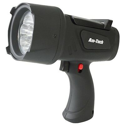 Superbright 9 Led Hand Held Spotlight Torch Flip Stand Handle Batteries Included