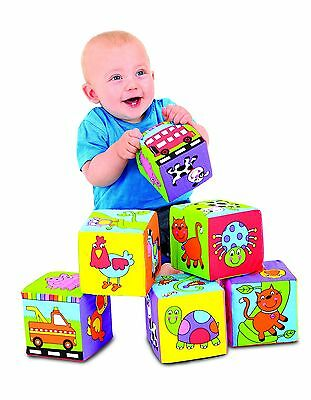 Galt Toys Baby Soft Foam 6 Blocks Toy New Free Post