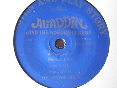 "CHILDRENS 7""single ALADDIN and the wonderful lamp"