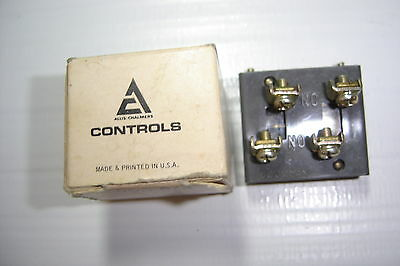 Allis Chalmers Ot-C  B Contact Block 10A 600 Vac Hd 1 No 1 Nc Nib