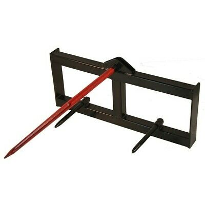 "43"" Tractor Hay Spear Attachment 3000 lb Capacity Skid Steer Loader Quick Tach"