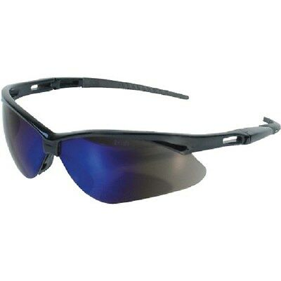 NEW Jackson Nemesis Safety Glasses, Black Frame - Blue Mirror Lens #19808