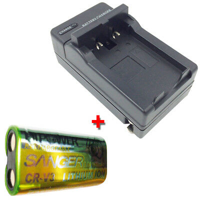 CR-V3 LB-01 Battery + Charger for KODAK Easyshare ZD710 C310 Camera Rechargeable