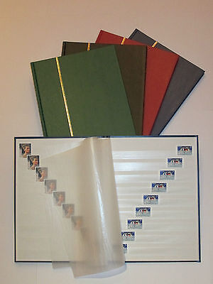 Leuchtturm BASIC Stockbook DIN A4, 16 white Pages, non-padded Binding