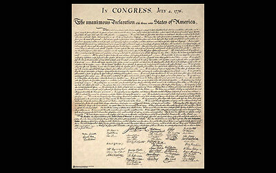 DECLARATION OF INDEPENDENCE of the United States of America Wall POSTER