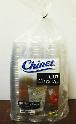 Chinet Cut Crystal 10oz 150cnt Plastic Disposable Cups