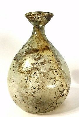 Ancient Roman Glass flask . 100AD
