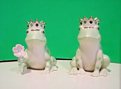 LENOX FROG PRINCE SALT and PEPPER set NEW in BOX with COA