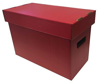10 New Max Pro Short Cardboard Comic Book Storage Boxes holds 150-175 comics RED