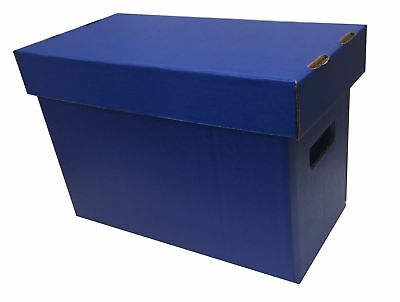 20 New Max Pro Short Cardboard Comic Book Storage Box holds 150-175 comics BLUE