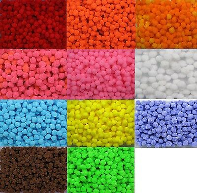 BB FLUFFY POM POMS  10mm pk of 50 craft  CHOICE OF COLOURS diy kids