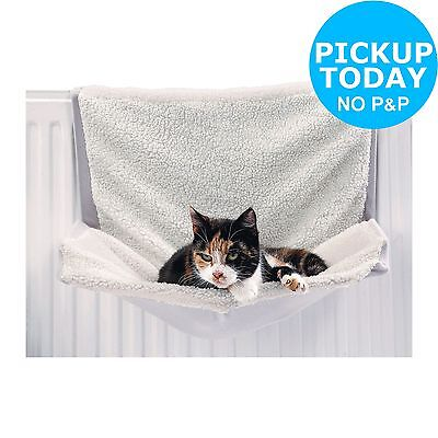Sheepskin Cat Radiator Bed - White: Machine Washable -From Argos ebay