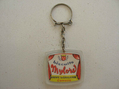 Porte Cle Ancien Biscuits Mylord / Brive Correze  / Vintage Keychains Pc9