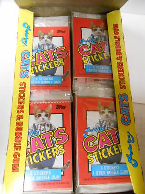 Perlorian Cats cards rare limited issue full box 36 sealed packs 1980s