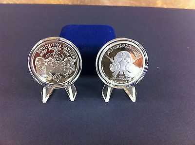 1oz -1 Troy Ounce .999 Fine Silver Proof Zombie Coin Bullion  Mount Rushmore ?