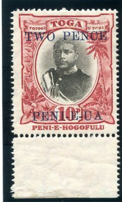 Tonga 1923 KGV 2d on 10d black & lake MLH. SG 66. Sc 65.