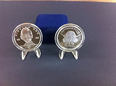 """1oz -1 Troy Ounce .999 Fine Silver Proof Zombie Coin Bullion  """" Abe Lincoln """""""