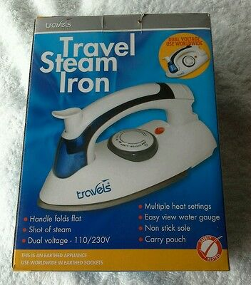 Travel Steam Iron Multi Voltage (Handle Folds Flat)