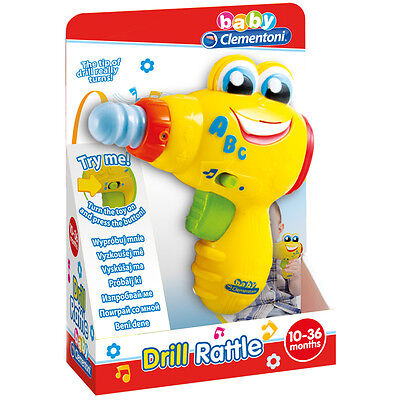 Clementoni Baby Drill Rattle Toy NEW