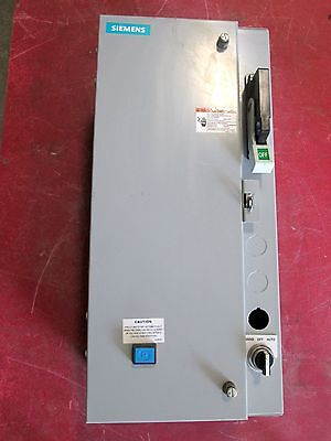 Siemens Size 1 Fusible Combo Starter 17CSD92BF11 with breaker ED63A010