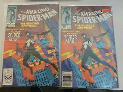 Amazing spiderman #252 black suit 2 copies news stand and direct spider man 252