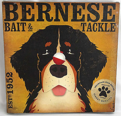 Bernese Bait & Tackle Mountain Dog Painting