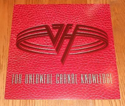 Van Halen For Unlawful Carnal Knowledge Poster 2-Sided Flat Square 1991 Promo 12