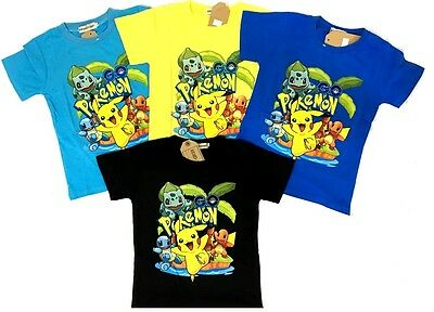 NEW Size 4~10 KIDS POKEMON GO GAMES PIKACHU POKEBALL T-SHIRT TEES TOP BOYS GIRLS