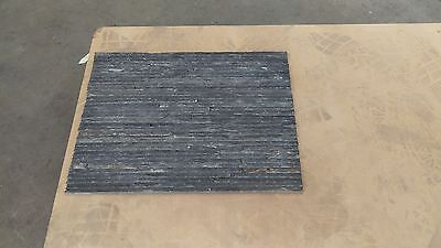 stacked stone slate grey cheap stacker tile cladding 600x150 20mm dark thin wall