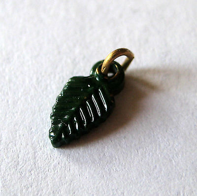 Girl Scout GREEN LEAF CHARM For Owl Leadership Development Pin, Earned 10 Hours