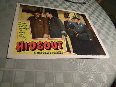 """1949 Republic Pictures """"Hideout"""" Used Movie Lobby Card"""
