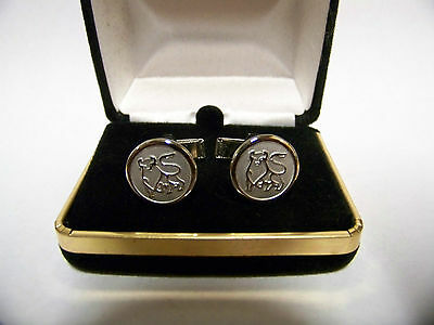 Set of MERRILL LYNCH BULL Cufflinks Silver-tone  #3