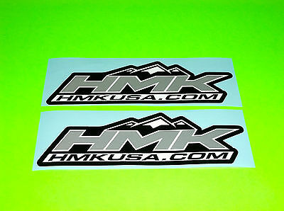 Hmk Usa .com Atv Snowmobile Sled Skidoo Polaris Artic Cat Silver Stickers Decals
